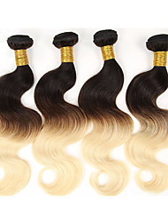 Âmbar Cabelo Brasileiro Onda de Corpo 6 meses 4 Peças tece cabelo kg Mechas Rápidas Tecidas