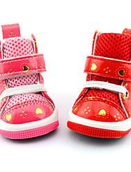 Chien Chaussures & Bottes Décontracté / Quotidien Etanche Cœur Rouge Rose