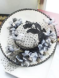 Chiffon Lace Fabric Silk Net Headpiece-Wedding Special Occasion Birthday Party/ Evening Fascinators Hats 1 Piece