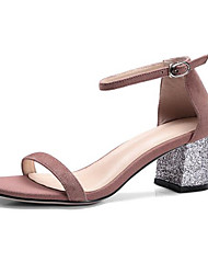 Women's Sandals Comfort Nubuck leather Summer Casual Light Pink Black 3in-3 3/4in