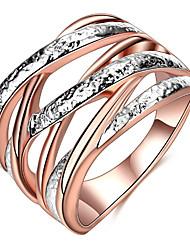 Women's Band Rings Basic Love Sexy Fashion Punk Personalized Hip-Hop Cute Style Luxury Classic Elegant Alloy Geometric Twist Circle