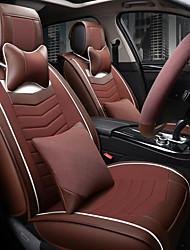 Il nuovo sedile auto in lino sedile auto sedile cuscino sedile quattro stagioni generali circondato da uno schienale poggiatesta da 5