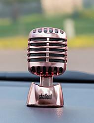 Ornements de diyautomotive ornements de parfum de voiture mode microphone de personnalité de la mode&Ornements en métal