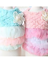Chien Robe Vêtements pour Chien Décontracté / Quotidien Princesse Bleu Rose