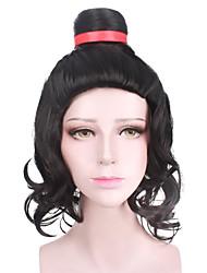 Halloween Cosplay Party Wig Heat Resistant Black Color Custome Wig New Design