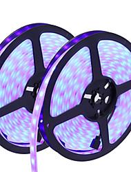 hkv® 10m (2x5) ip67 водонепроницаемый 300led rgb полоса свет 5050 рождественские / вечерние / свадебные украшения свет dc12v