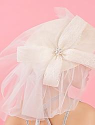 Tulle Dentelle Strass Tissu Filet Casque-Mariage Occasion spéciale Anniversaire Fête/Soirée Coiffure Chapeau 1 Pièce