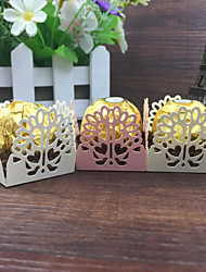50pcs Pink Love Heart Laser Cut Candy Wrappers Chocolate Packaging Bar Chocolate Gift Box Wedding Supplies Casamento Decorations