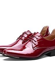 Masculino sapatos Couro Envernizado Primavera Outono Sapatos formais Sapatos de mergulho Oxfords Cadarço Para Casamento Casual Festas &