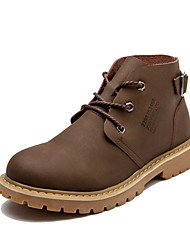 Men's Boots Amir's New Style Cowhide Leather Casual Outdoor Brown Black