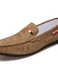 Men's Shoes PU Spring Fall Comfort Loafers & Slip-Ons For Casual Black Brown Khaki