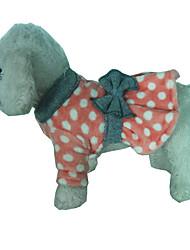 Dog Dress Dog Clothes Casual/Daily Polka Dots Green Ruby