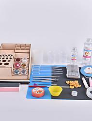 Kit de ferramentas de epoxy de cristal feito à mão e de caranguejo do reino de caranguejo montado por você tipo de atualização