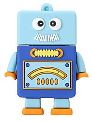 Nuevo robot de dibujos animados usb2.0 256gb unidad flash u disco memory stick
