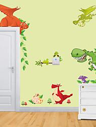 Animaux A fleurs/Botanique Bande dessinée Stickers muraux Autocollants avion Autocollants muraux décoratifs MatérielDécoration