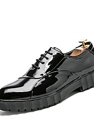 Men's Shoes Synthetic Microfiber PU Spring Fall Formal Shoes Driving Shoes Oxfords Lace-up For Wedding Casual Party & Evening Outdoor