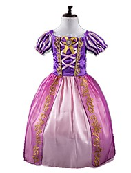One-Piece/Dress Princess Fairytale Cosplay Festival/Holiday Halloween Costumes Purple Vintage Dresses Halloween Carnival Kids Girls'