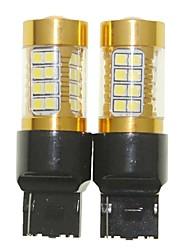 Sencart 2pcs 7440 w21w w3x16d мигающая лампочка светодиодный фонарик автомобиля поворота заднего фонаря (белый / красный / синий / теплый