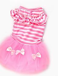 Chien Robe Vêtements pour Chien Décontracté / Quotidien Princesse Violet Rose