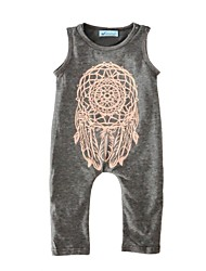 Baby Romper Geometic Print One-Pieces Cotton Spring/Fall Summer Sleeveless Newborn Bodysuits Infant Jumpsuits