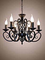 European Style Chandeliers Living Room Dining Lights Simple Originality Innovative Candles 6 Heads  Lamps