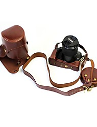 Dengpin pu кожаная сумка для камеры для канона eos m5 55-200 мм объектив (различные цвета)