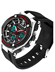 Муж. Смарт-часы Цифровой Pезина Группа Черный