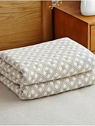 Tricotado Geometrico Mistura de Algodão cobertores