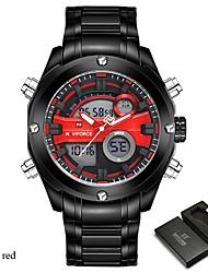 NAVIFORCE Pánské Sportovní hodinky Hodinky k šatům Digitální hodinky japonština Křemenný Digitální Voděodolné Hodinky s dvojitým časem