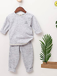 Boys' Solid Sets,Cotton Fall Clothing Set