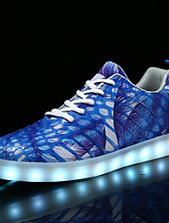 Men's Shoes Synthetic Microfiber PU Fall Winter Comfort Light Up Shoes Sneakers Lace-up For Casual Party & Evening Outdoor Office & Career