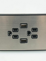 Electrical Outlets PP With USB Charger Outlet 12*7*4.4