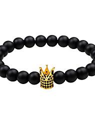 Homme Chaînes & Bracelets Multi-pierre Basique Naturel Géométrique Mode Vintage Style Punk Personnalisé Hip-Hop Fait à la main Bijoux de
