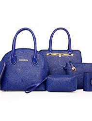 Damen Bag Sets PU Ganzjährig Normal Baguette Bag Reißverschluss Blau Gold Schwarz Beige Fuchsia