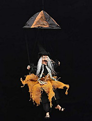 Halloween Bar Haunted House Decorations Scary Sound Control Parachute Witch Wigs
