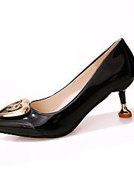 Damen High Heels Komfort Pumps PU Frühling Sommer Kleid Party & Festivität Kitten Heel-Absatz Weiß Schwarz Gelb 5 - 7 cm