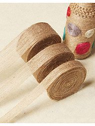 10 M Vintage Jute Hessian Burlap Ribbon DIY  Weddings/Halloween  Floristry Wedding Party Decor Craft