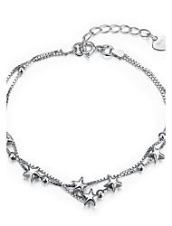 Femme Bracelets de rive Bijoux Basique Argent sterling Forme d'Etoile Bijoux Pour Mariage Soirée Fiançailles Quotidien Décontracté Travail