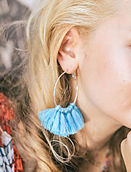 Women's Hoop Earrings Tassel Fashion Alloy Circle Jewelry For Daily