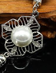 DIY Automotive Silver pearl high-grade personality hollow Car Pendant & Orn Metal