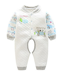 Baby Geometic One-Pieces,Cotton Winter