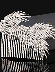 Rhinestone Alloy Headpiece-Wedding Special Occasion Birthday Party/ Evening Hair Combs Flowers Hair Clip 1 Piece
