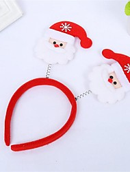 1Pcs   Christmas Decoration Items Christmas Light Head Band Hairpin Design Is Random