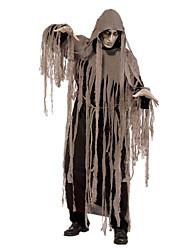 Costumes de Cosplay Squelette/Crâne Zombie Cosplay Fête / Célébration Déguisement d'Halloween Marron Rétro Collant Manteau Halloween