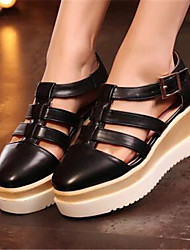 Damen Schuhe PU Sommer Komfort Loafers & Slip-Ons Mit Für Normal Weiß Schwarz Silber