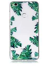Caso para huawei p10 p10 lite capa capa folhas verdes padrão sentir alívio de verniz alta penetração tpu material caixa de telefone para