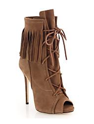 Для женщин Ботинки Удобная обувь Модная обувь Ботильоны клуб Обувь Обувь с подсветкой Весна Лето Осень Зима Кожа Для прогулок