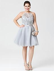 Princesse Bijoux Mi-long Organza Satin Soirée Cocktail Robe avec Billes Appliques Ceinture / Ruban par TS Couture®