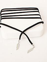 Жен. Ожерелья с подвесками В форме листа Сплав Мода Бижутерия Назначение Свадьба Для вечеринок День рождения