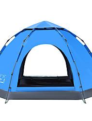 5-8 personnes Tente Double Tente automatique Une pièce Tente de camping 1500-2000 mm Oxford PolyuréthaneGarder au chaud Etanche Pare-vent